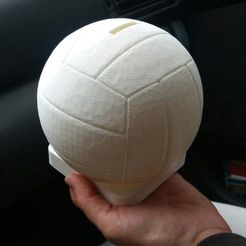 Download 3D printer files piggy bank shaped like a volleyball ball, aliado10585