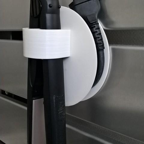 free hair dryer holder and or straightener holder stl file cults. Black Bedroom Furniture Sets. Home Design Ideas