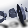 Free Hair dryer holder and / or straightener holder STL file, YAN-D