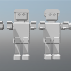 Download free 3D printing templates ROBOT articulated, FLAYE