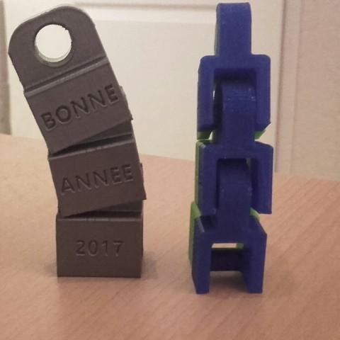 Free 3d printer model BONNE ANNEE 207, FLAYE