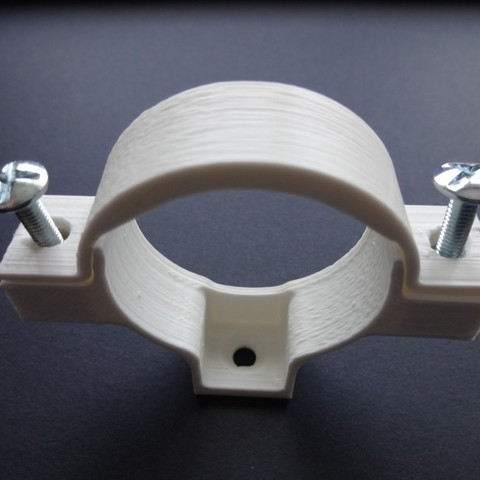 DSC02110.JPG Download STL file PVC drain pipe clamp 32-40-50 • Template to 3D print, chris_soleil
