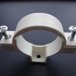 PVC drain pipe clamp 32-40-50 3D printer file, chris_soleil