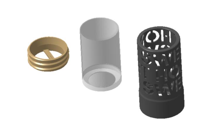 "Vue 2.png Download STL file Home Sweet Home"" candle jar • 3D print model, chris_soleil"