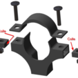 Collier_1.png Download STL file PVC drain pipe clamp 32-40-50 • Template to 3D print, chris_soleil