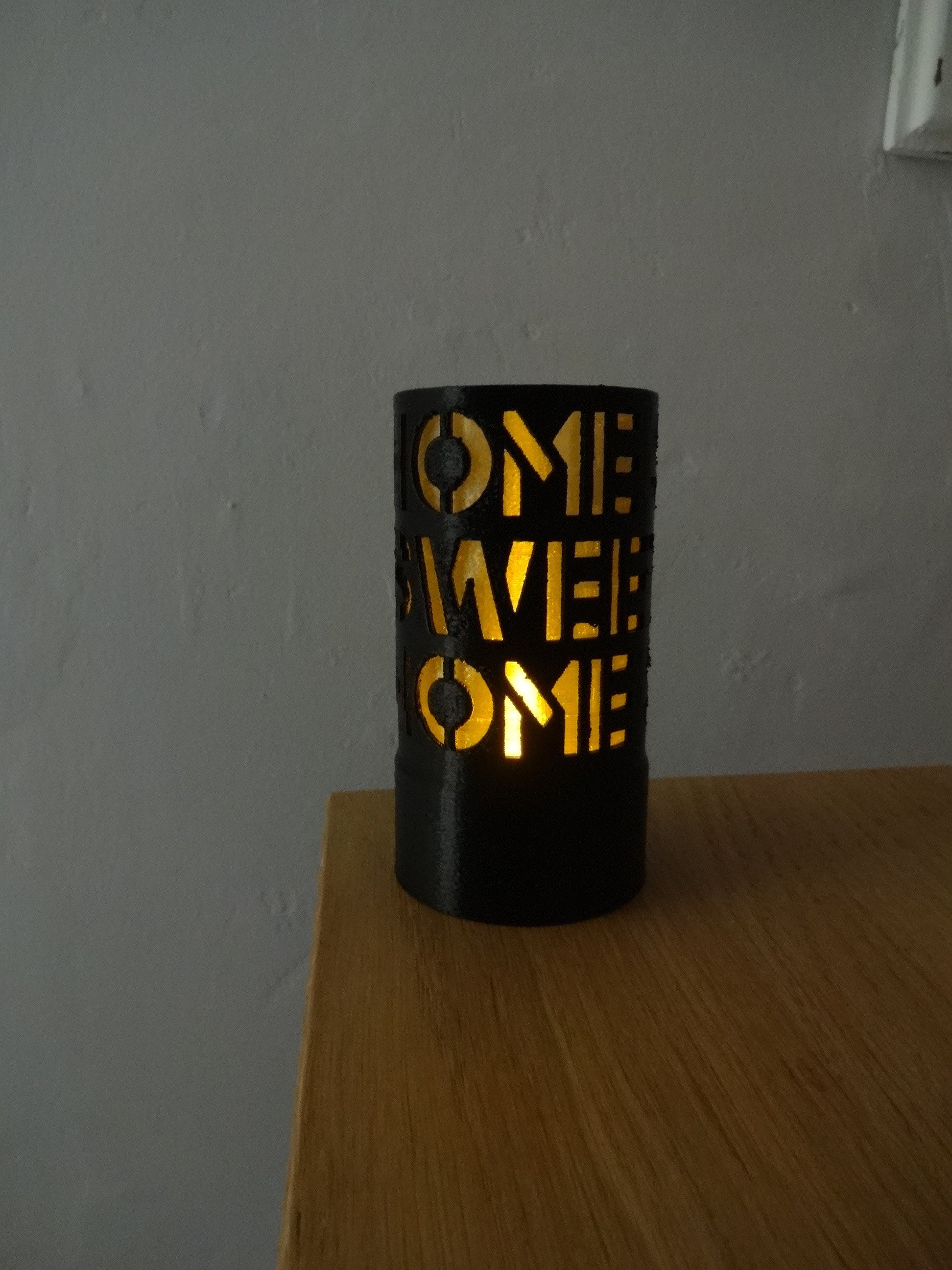 "DSC01081.JPG Download STL file Home Sweet Home"" candle jar • 3D print model, chris_soleil"