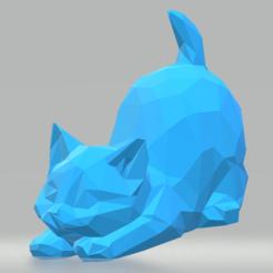 Screenshot_1.png Download STL file Kitten low poly • 3D printing object, luvas