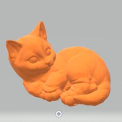 Screenshot_1.png Télécharger fichier STL Le chat est couché • Plan à imprimer en 3D, luvas