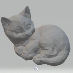 Screenshot_9.png Télécharger fichier STL Chat couché. • Objet pour impression 3D, luvas