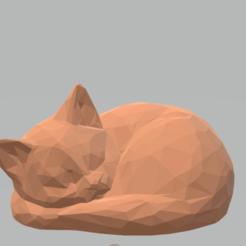 Screenshot_1.png Télécharger fichier STL Un chat qui dort en poly • Modèle imprimable en 3D, luvas