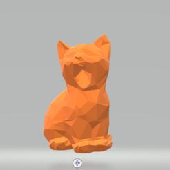 Screenshot_2.png Télécharger fichier STL Le chat baille à bas poly • Design à imprimer en 3D, luvas
