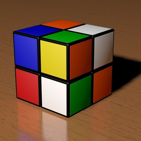 3d printer models 2x2 scrambled rubik's cube ・ cults