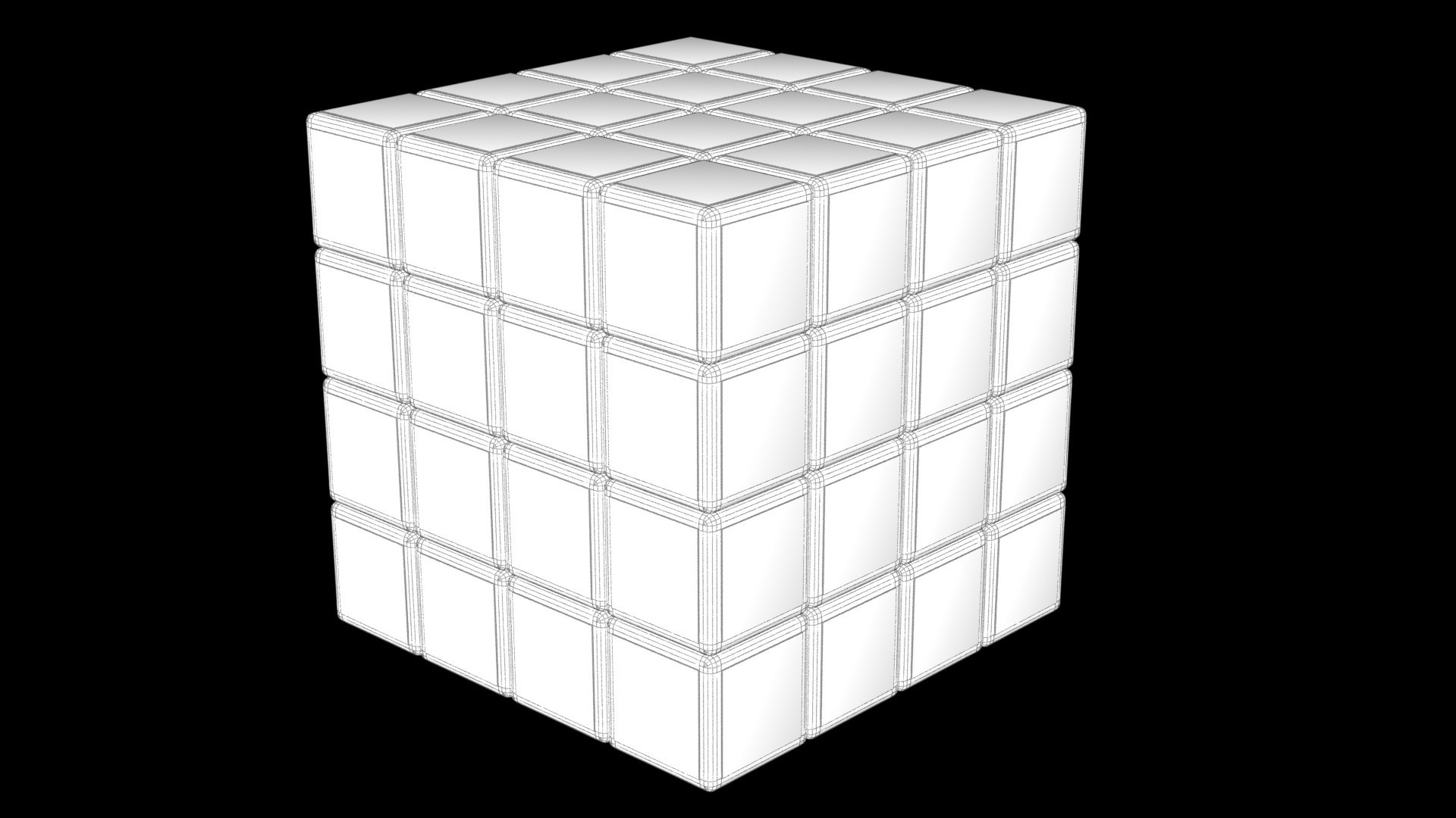 4444444k.jpg Download STL file 4X4 SCRAMBLED RUBIK'S CUBE • 3D printer template, Knight1341