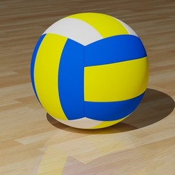 VolleyballKapak.jpg Download STL file Volleyball Ball • 3D printing object, Knight1341