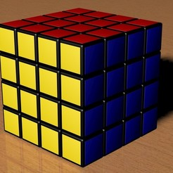 3d print files 4x4 Rubik's Cube, Knight1341