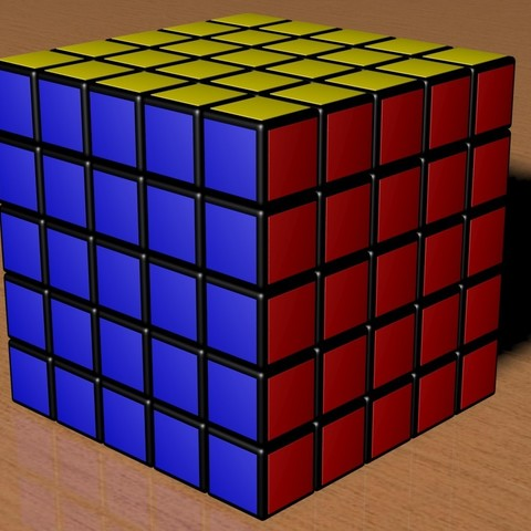 stl files 5x5 rubik 39 s cube cults. Black Bedroom Furniture Sets. Home Design Ideas