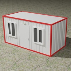 container - Kopya.jpg Download STL file Container House • Object to 3D print, Knight1341