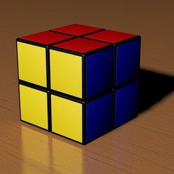 3d printer model 2x2 Rubik's Cube, Knight1341