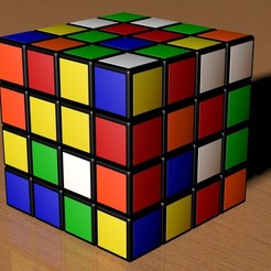 stl files 4X4 SCRAMBLED RUBIK'S CUBE, Knight1341