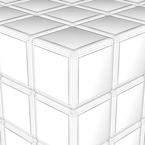 444444k.jpg Download STL file 4X4 SCRAMBLED RUBIK'S CUBE • 3D printer template, Knight1341