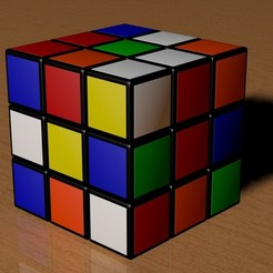 3x3 Scrambled Rubik's Cube STL file, Knight1341