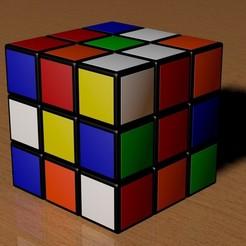 Objet 3D Cube Rubik 3x3 brouillé, Knight1341