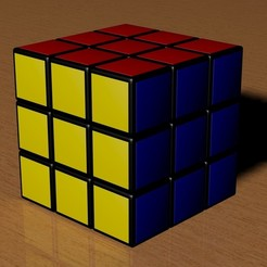 3x3 Rubik's Cube 3D model, Knight1341