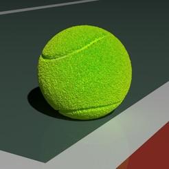 tennisballview.jpg Télécharger fichier STL Balle de tennis • Plan imprimable en 3D, Knight1341