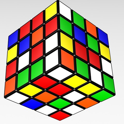 4444k.jpg Download STL file 4X4 SCRAMBLED RUBIK'S CUBE • 3D printer template, Knight1341