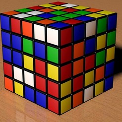 stl file 5X5 Scrambled Rubik's Cube, Knight1341