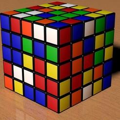 STL 5X5 SCRAMBLED RUBIK'S CUBE, Knight1341