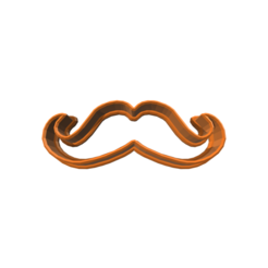 stl Moustache 1 Cookie Cutter, 3DBuilder