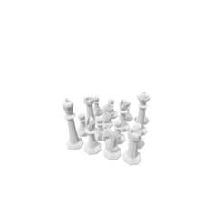 modelos 3d Chess Set, 3DBuilder
