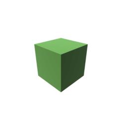 Modelo 3D Cube Shape, 3DBuilder