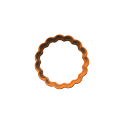 modelo stl Scalloped Cookie Cutter, 3DBuilder