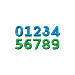 Archivos STL Numbers, 3DBuilder