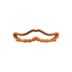 diseños 3d Moustache 3 Cookie Cutter, 3DBuilder