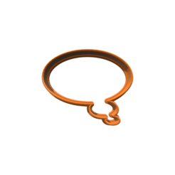 STL Word Bubble 2 Cookie Cutter, 3DBuilder