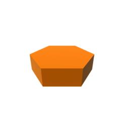 diseños 3d Hexagon Shape, 3DBuilder