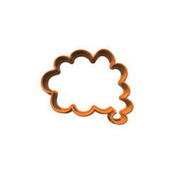diseños 3d Word Bubble 4 Cookie Cutter, 3DBuilder