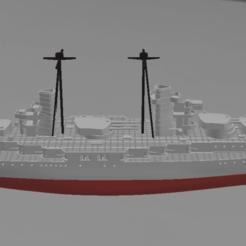 Download 3D printer templates Battleship Conte Di Cavour / Giulio Cesare WW1 waterline, soheitb