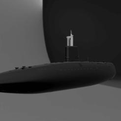 HMS Conqueror v133.png Download STL file HMS Conqueror (S48) • 3D printer design, soheitb