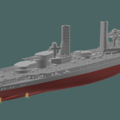 Doria WW1 v503.png Télécharger fichier STL Cuirassé Andrea Doria / Caio Duilio Ligne de flottaison WW1 • Plan à imprimer en 3D, soheitb