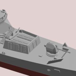 Tipo 45 v314.png Download STL file Type 45 destroyer, HMS Daring waterline • 3D print model, soheitb