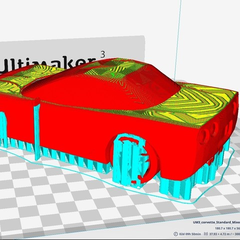 Download free 3D printer model Corvette C5 Z06, Timelord