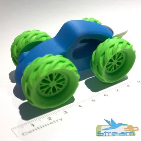 3D print files Race car Speedstream, Stream3D