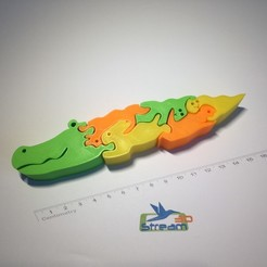 3D printer file Alligator 3D puzzle, Stream3D