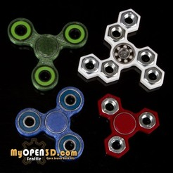 Free STL file MyOpen3D Fidget Spinner Collection, MyOpen3D