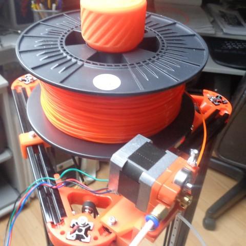Spoolholder 3.jpg Download free STL file Mini Kossel Delta 3D Printer Spoolholder • Template to 3D print, Bishop
