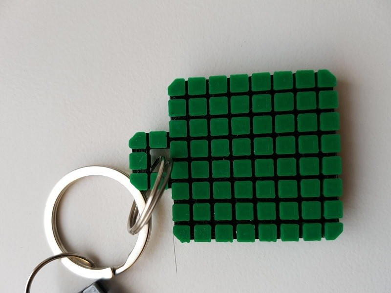 Keychain 9.jpg Download free STL file Minecraft Creeper Keychain (single extruder) • 3D printing object, Bishop